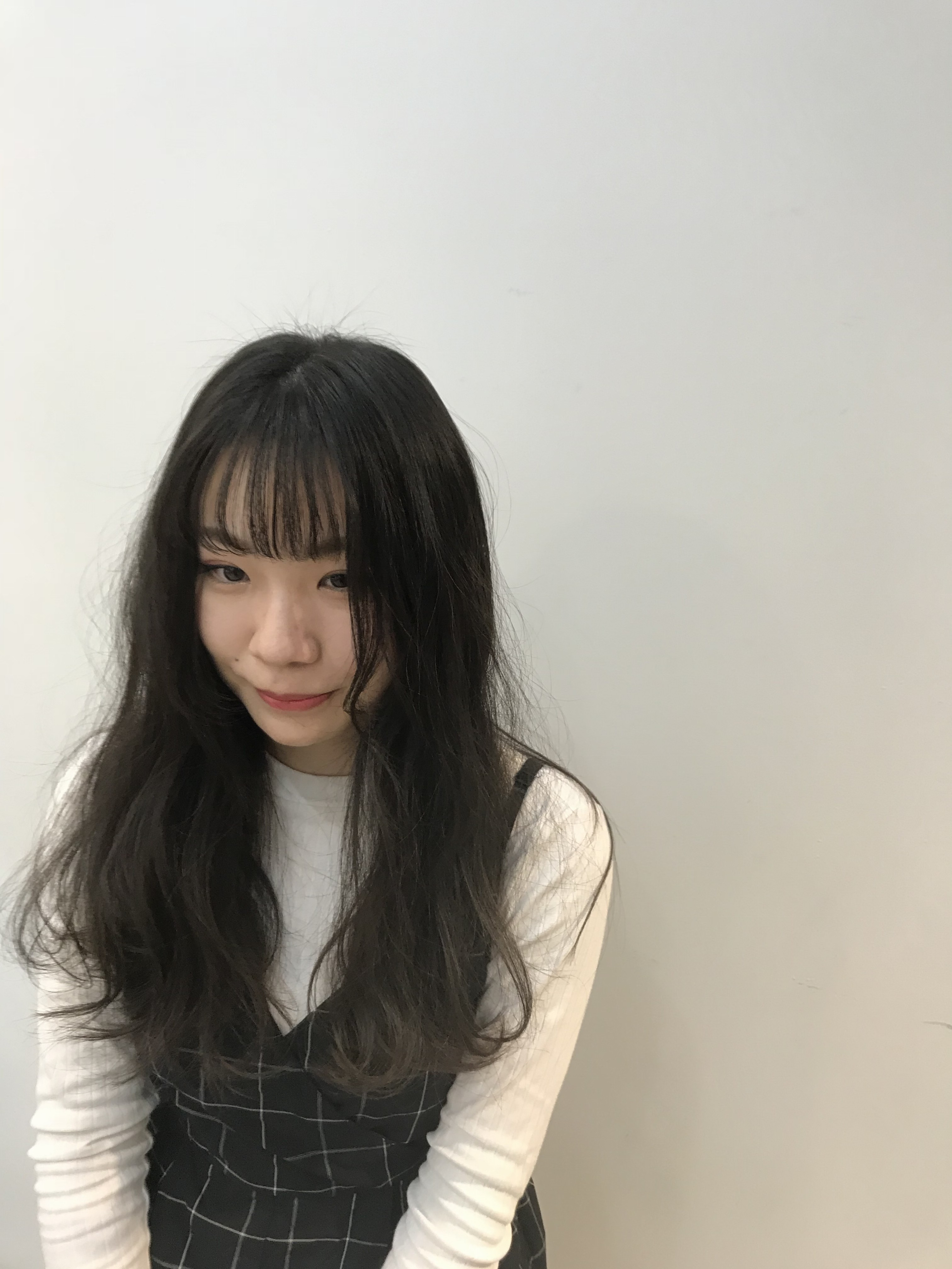 日立市美容室まるマルmaru コテ巻き シースルーバング