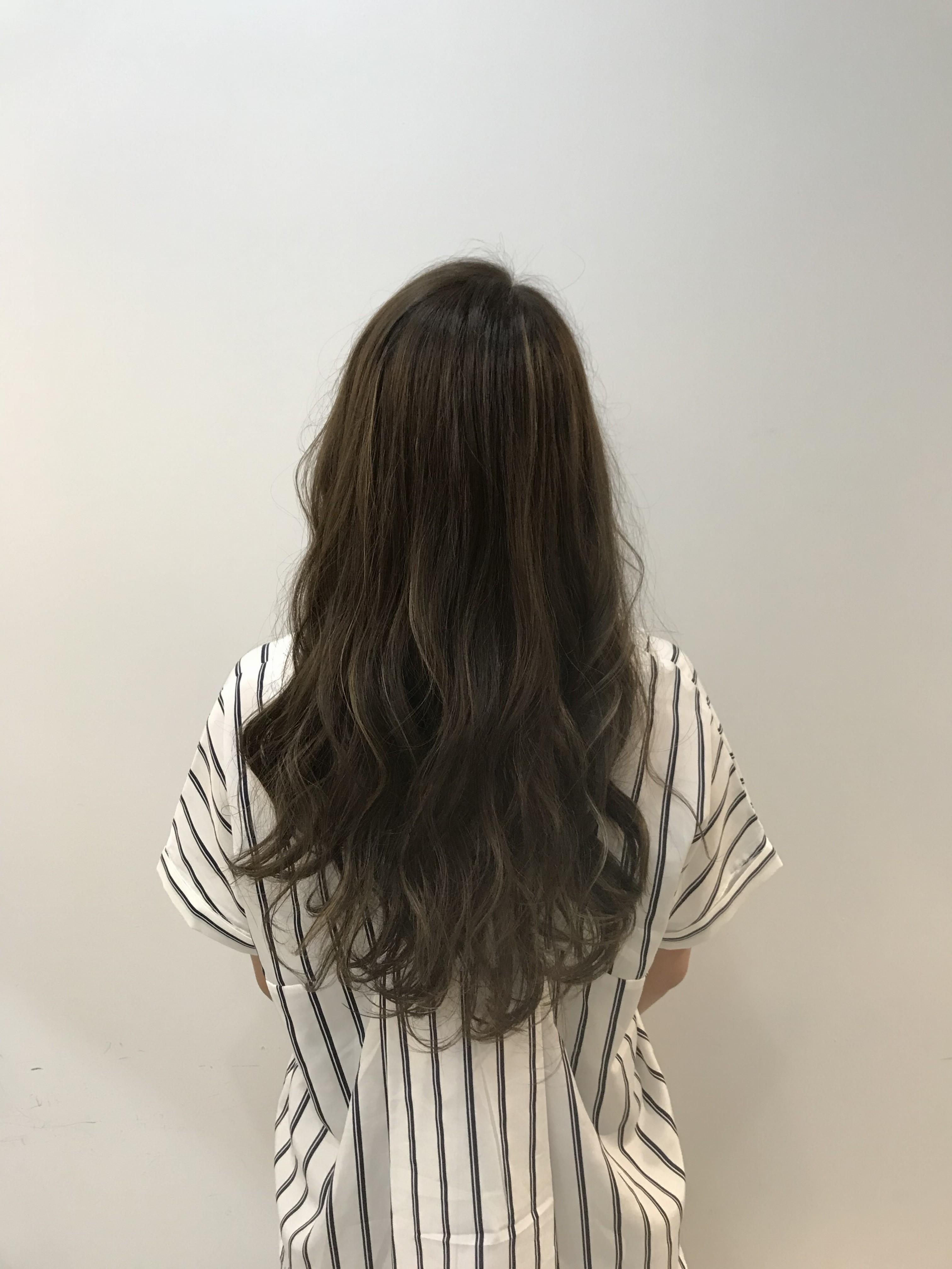 日立 日立市 美容室 美容院 ヘアサロン maru. まる マル ハイライト コテ巻き